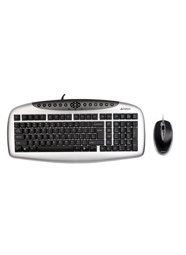 A4 TECH Kb-2103D Q Ps/2 Mm Klavye+2X Optik Mouse Siyah